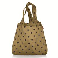 Сумка складная mini maxi shopper dots mocha, Reisenthel