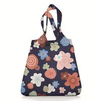 Сумка складная mini maxi shopper flowers navy, Reisenthel