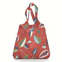 Сумка складная mini maxi shopper leaves red, Reisenthel
